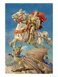 Saint George and the Dragon Giclee Print by Fortunino Matania