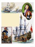 Scrapbook of the British Sailor, the Dutch in the Medway Giclee Print by Eric Parker