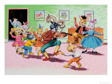 Party at Brer Rabbit's House Giclee Print by Henry Charles Fox