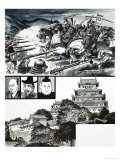 Battle of Nagashino and Himeji Castle Giclee Print by Dan Escott