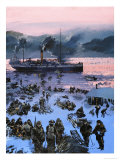 Embarking For the Klondike Gold Rush Giclee Print by Graham Coton