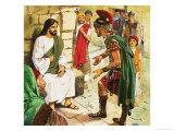 Men Who Came to Jesus: The Roman Soldier Giclee Print by Clive Uptton