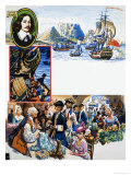 Scrapbook of the British Sailor, Tavern of the Two Seas Giclee Print by Eric Parker