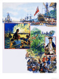 Scrapbook of the British Sailor, the Capture of Quebec Giclee Print by Eric Parker