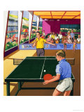 Table Tennis Players Giclee Print