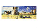 Flint Castle, Overlooking the River Dee Giclee Print by Dan Escott
