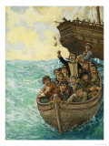 Men in a Boat Giclee Print by Ken Petts