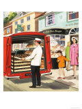 Baker's Delivery Man Giclee Print
