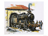 The World of Speed and Power: A Honschel Constructed 2-6-4 Tank Locomotive of 1929 Vintage Giclee Print by John S. Smith