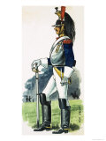 French Mounted Cuirassier of the Imperial Army of France Giclee Print by Dan Escott