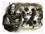 In Shakespeare's Play, Macbeth Meets Three Witches Giclee Print by C.l. Doughty