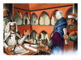 Tales of the Teutonic Knights: The Knights March Eastwards Giclee Print by Dan Escott