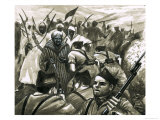 General Franco Fighting the Riff Rebels in Morocco Giclee Print by Eric Parker