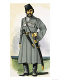 Don Cossack Guard at the End of the 19th Century Giclee Print by Dan Escott