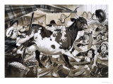 Cow Once Got Into Westminster Hall and Caused Chaos Giclee Print by Angus Mcbride