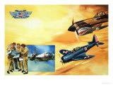 Planes of the Confederate Air Force Reproduction procédé giclée par Gerry Wood