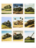 Tanks from the First and Second World Wars Giclee Print by Dan Escott