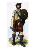 Scottish Highlander of the 1745 Jacobite Uprising Giclee Print by Dan Escott