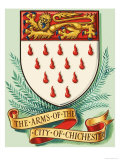 Coat of Arms For the City of Chichester Giclee Print by Dan Escott