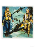 Wartime Pilots and the Battle of Britain Reproduction procédé giclée par Gerry Wood
