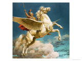 Pegasus, the Winged Horse Giclee Print by Fortunino Matania