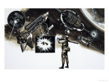 Will the Next War Be Fought in Space Reproduction procédé giclée par Gerry Wood