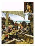 The 12-Year-Old Prince James Crossing to the English Vessel and Captivity Giclee Print by Francis Phillipps
