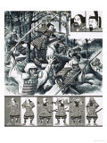 The War-Lords of Japan: Prince Morinaga Leads Soldier Monks Into Battle Giclee Print by Dan Escott