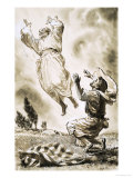 Unidentified Biblical Scene of Man Ascending to Heaven Giclee Print by Clive Uptton