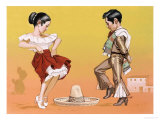 Mexican Children in Their National Costume Giclee Print by Angus Mcbride