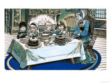 Unidentified Scene of Children Eating a Feast Before a Roaring Fire Giclee Print by Jesus Blasco