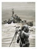 Member of the British Antarctic Survey Team at Work Giclee Print by Graham Coton