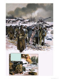 Into Battle: The Ardennes Offensive of the Second World War Giclee Print by Ron Embleton