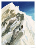 Hillary and Tensing Hack Their Way a Step at a Time Along a Ridge Giclee Print by Ferdinando Tacconi