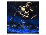 Maui, the Legendary Hero of New Zealand Giclee Print by Oliver Frey