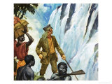 David Livingstone Discovers the Victoria Falls Giclee Print by James Edwin Mcconnell