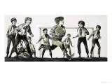 William Webb Ellis Picked Up the Ball and Ran with It, Inventing Rugby Giclee Print by Richard Hook