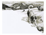 So That's Why, These Mountain Dogs Are Called St. Bernards Giclee Print by John Millar Watt