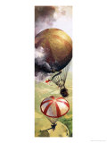 The Story of the Parachute: The Sky-Divers Giclee Print by Ferdinando Tacconi