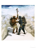 Hillary and Tensing Reach the Summit of Mount Everest Giclee Print by Ferdinando Tacconi