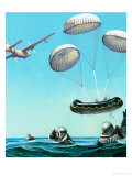 The Story of the Parachute: Sky-Divers of the Future Giclee Print by Ferdinando Tacconi