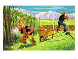 Bear Rabbit Giclee Print by Henry Charles Fox