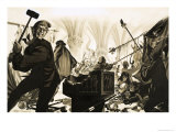 Unidentified Group of Men Smashing Up a Church Giclee Print by Peter Andrews