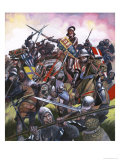 Into Battle: They Fought For Enland's Crown. the Battle of Bosworth Giclee Print by Ron Embleton