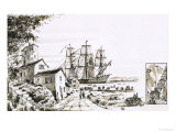The Inhabitants of Languedoc Had Never Seen Large Ships Giclee Print by John S. Smith