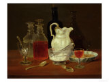 Still Life with Decanters Giclee Print by J. Rhodes