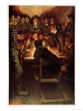 The Midnight Court Martial Giclee Print by Howard Pyle