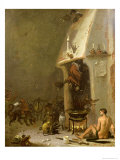 Witch's Tavern Giclee Print by Cornelis Saftleven