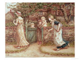 Lucy Locket Lost Her Pocket Giclee Print by Kate Greenaway