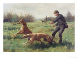 Exercising Greyhounds Giclee Print by George Goodwin Kilburne